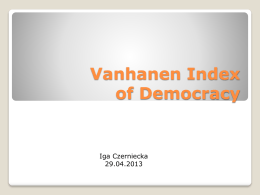 Vanhanen Index of Democracy