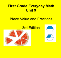 Everyday Math- gr. 1 unit 9