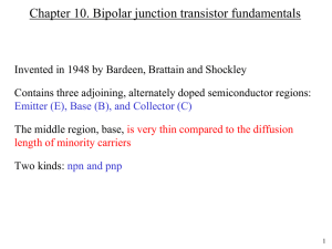 Chapter 10 Bipolar Junction Transistor Fundamentals