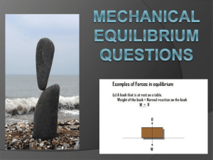 Mechanical Equilibrium Questions/Answers PPT