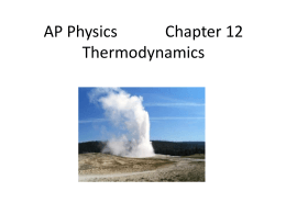 First Law of Thermodynamics - Derry Area School District