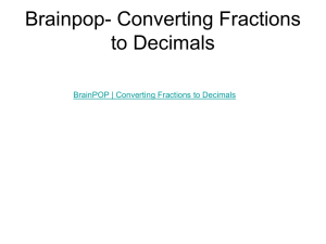 Brainpop- Converting Fractions to Decimals