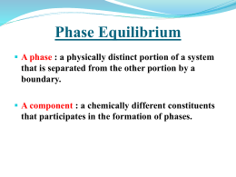 Two Component Systems Containing Liquid Phases: