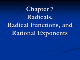 Radical Functions