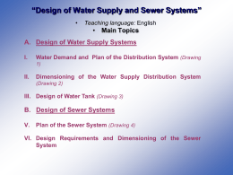 Design of Water Supply and Sewer Systems
