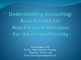 Nonprofit Taxation & Accounting