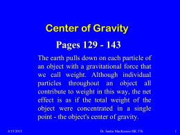 017 Center of Gravity
