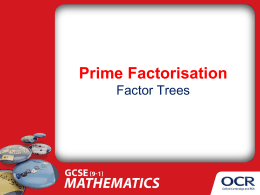 Prime factorisation