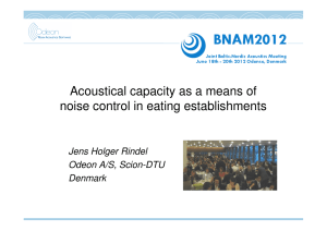 Acoustical capacity as a means of noise control in eating