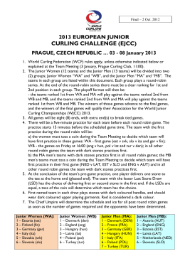2013 european junior curling challenge (ejcc)