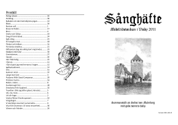 Sånghäfte Medeltidsveckan 2011 - A5 (skrives ut