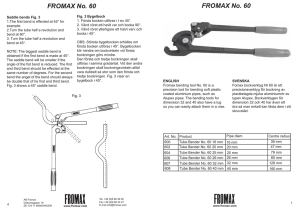 FROMAX No 55 Lever Bender 12mm