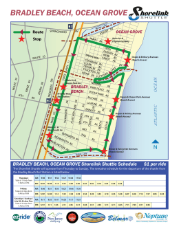 Bradley Beach & Ocean Grove Shore link shuttle map 8.5