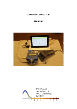 Zafena Connector manual en