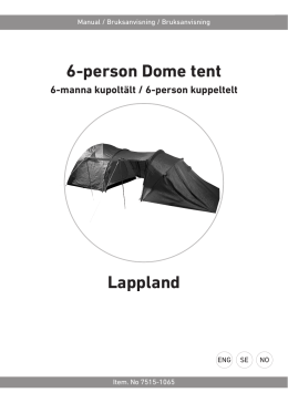 6-person Dome tent Lappland