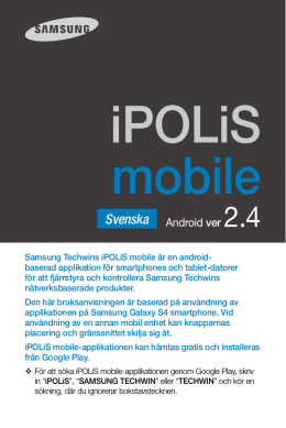 User Maunal-iPOLiS Mobile-Android-SWEDISH