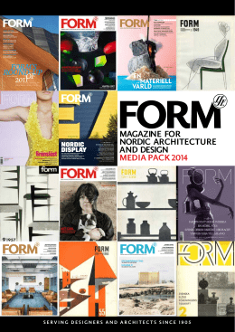 magazine for nordic architecture and design media pack 2014