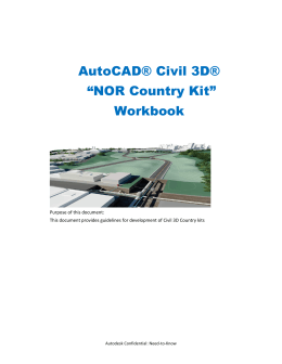 "AutoCAD® Civil 3D® ""NOR Country Kit"" Workbook"