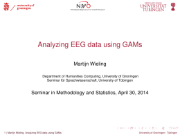 Analyzing EEG data using GAMs