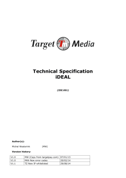 Technical Specification iDEAL
