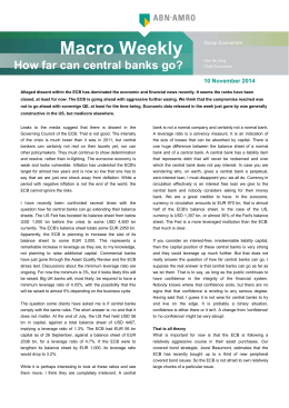 Macro Weekly How far can central banks go?