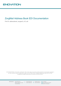 ZorgMail Address Book EDI Documentation