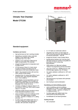 Climatic Test Chamber Model CTC256