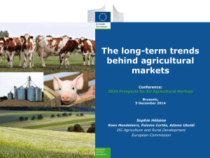 The long-term trends behind agricultural markets