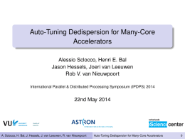 Auto-Tuning Dedispersion for Many-Core
