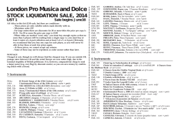 London Pro Musica and Dolce