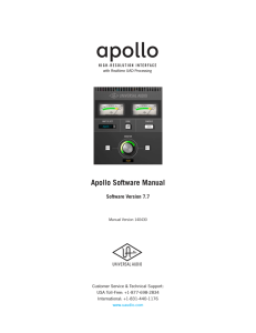 Apollo Software Manual v7.7