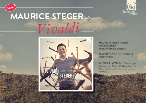 Download the Flyer - Maurice Steger: Vivaldi 2014