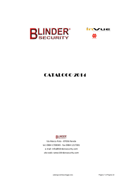 CATALOGO 2014 - Blinder Security
