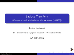 Laplace Transform - (Computational Methods for Mechatronics