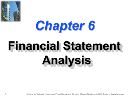 Chapter 6 -- Financial Statement Analysis