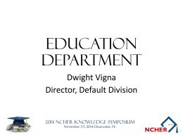 US Department of Education Update