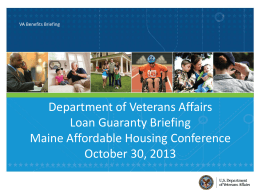 Monique Beaudoin Presentation - Maine State Housing Authority