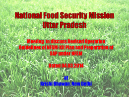 Uttar Pradesh - National Food Security Mission