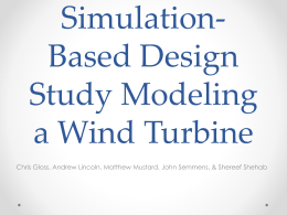 Modeling a Wind Turbine Model