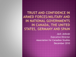 Trust and Confidence in Armed Forces and National Government