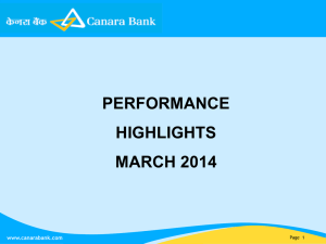 Performance Highlights - March 2014