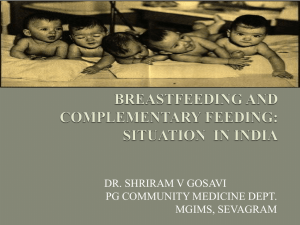 breastfeeding and complementary feeding: status in india