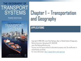 Chapter 1 Transportation and Geography