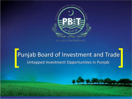 Punjab Board of Investment and Trade