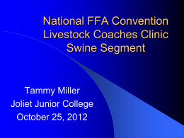 National FFA Convention Livestock Coaches Clinic