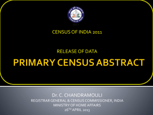 PRIMARY CENSUS ABSTRACT - Census of India Website