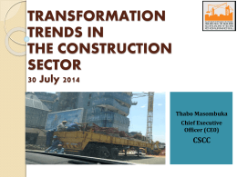Construction Charter Breakfast July 2014: CSCC Presentation