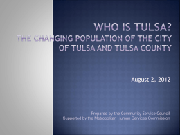 Who is Tulsa? - Community Service Council of Greater Tulsa
