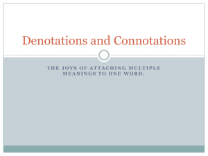 Chapter 3 Denotations and Connotations