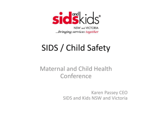 Karen Passey - SIDS / Child Safety